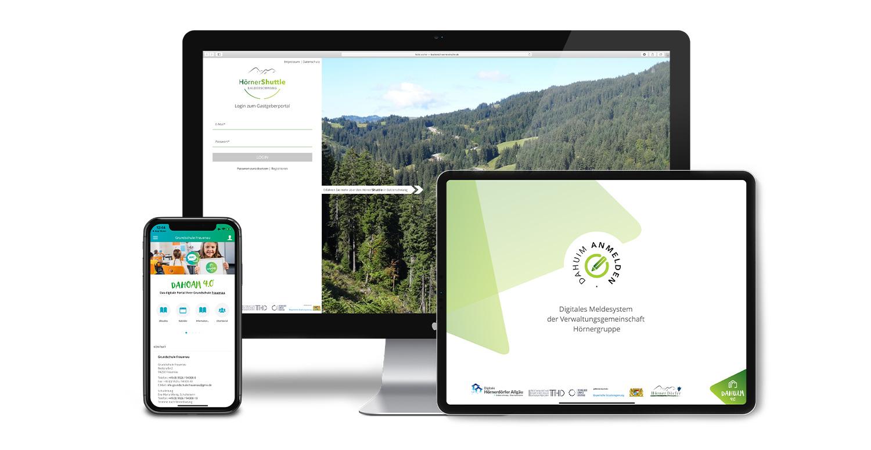 Schul-App, Digitales Meldesystem und Hörner Schuttle