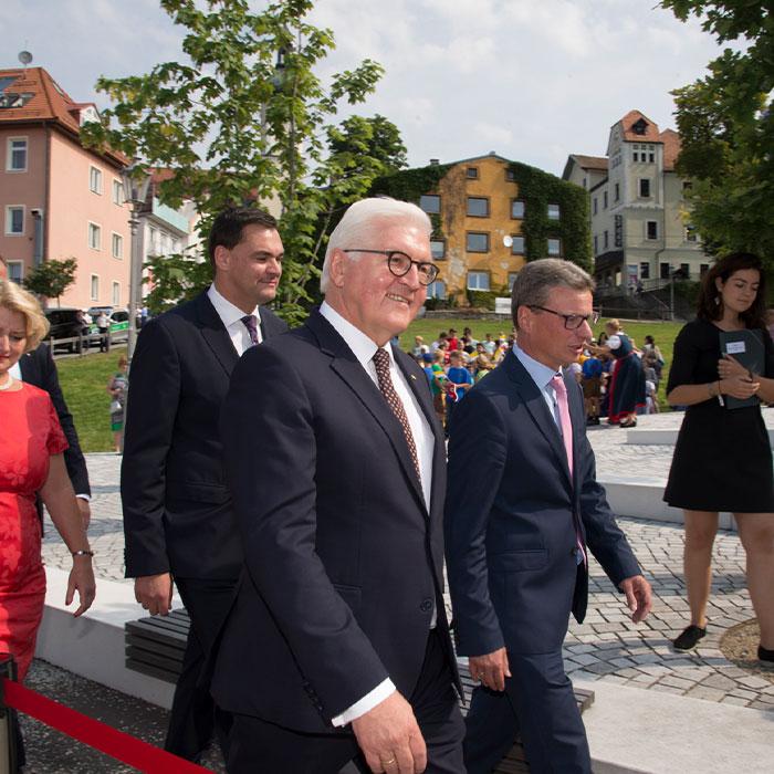 Frank-Walter Steinmeier bei seinem Besuch in Grafenau